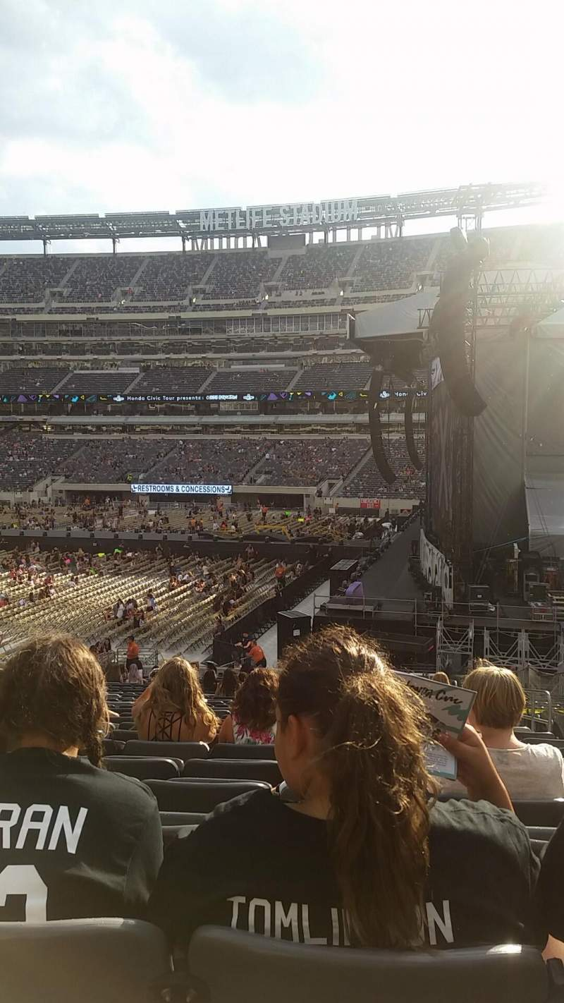 Seating view for MetLife Stadium Section 110 Row 30 Seat 4