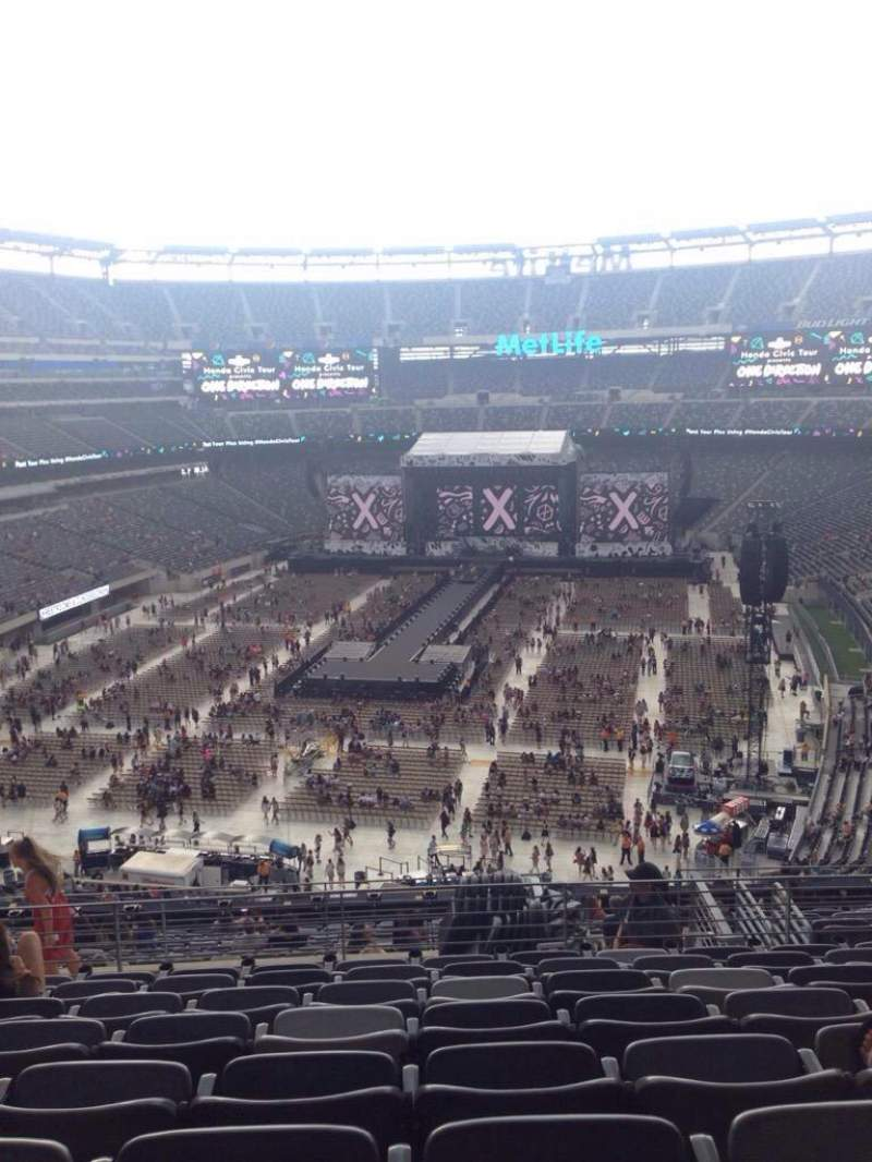 Seating view for MetLife Stadium Section 224B Row 8 Seat 17
