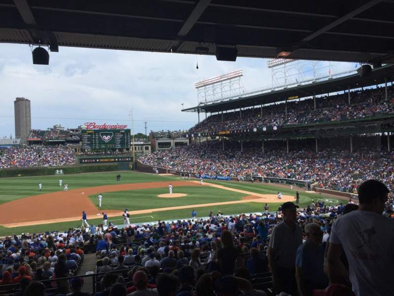 Seating view for Wrigley Field Section 213 Row 11 Seat 109