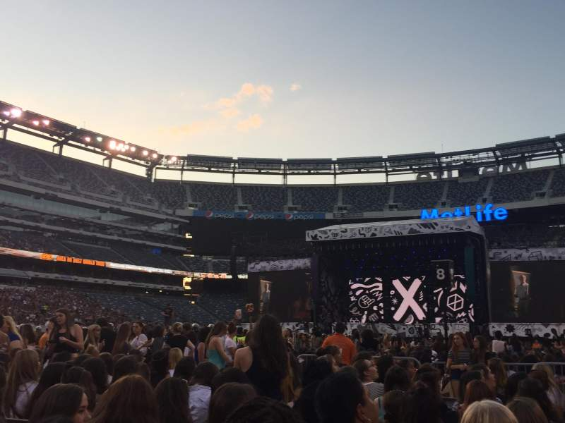 Seating view for MetLife Stadium Section 12 Row 10 Seat 5