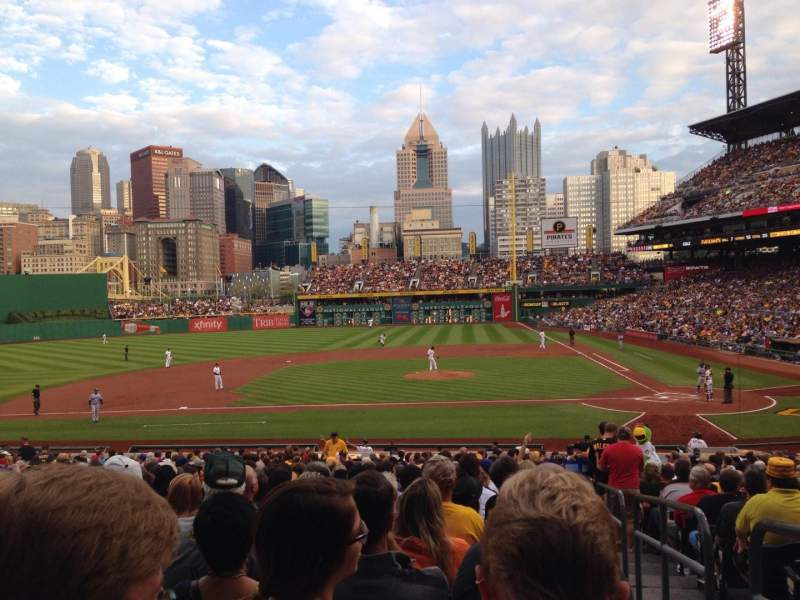 Seating view for PNC Park Section 121 Row T Seat 1