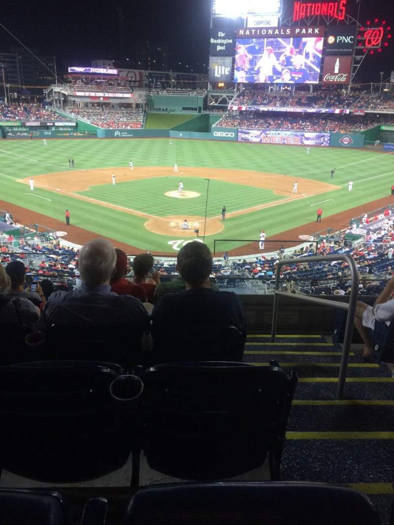 Seating view for Nationals Park Section 214 Row F Seat 1