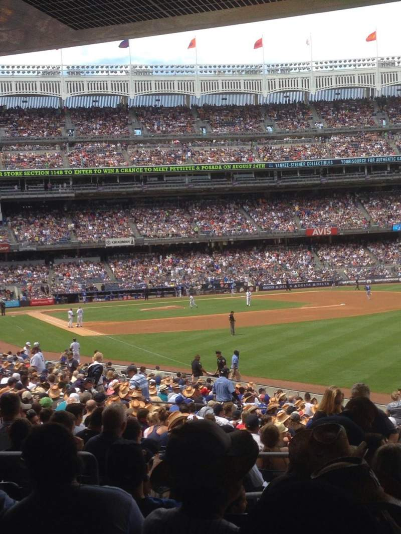 Seating view for Yankee Stadium Section 108 Row 26 Seat 9