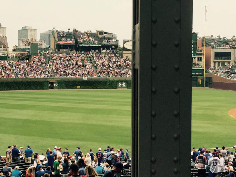 Seating view for Wrigley Field Section 206 Row 10 Seat 17
