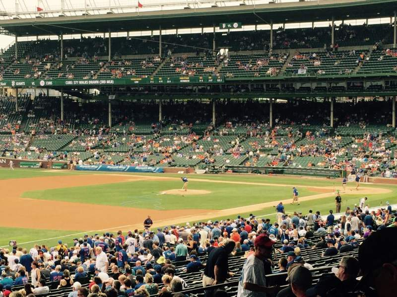 Seating view for Wrigley Field Section 206 Row 10 Seat 102