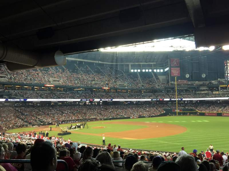 Seating view for Chase Field Section 112 Row 39 Seat 14