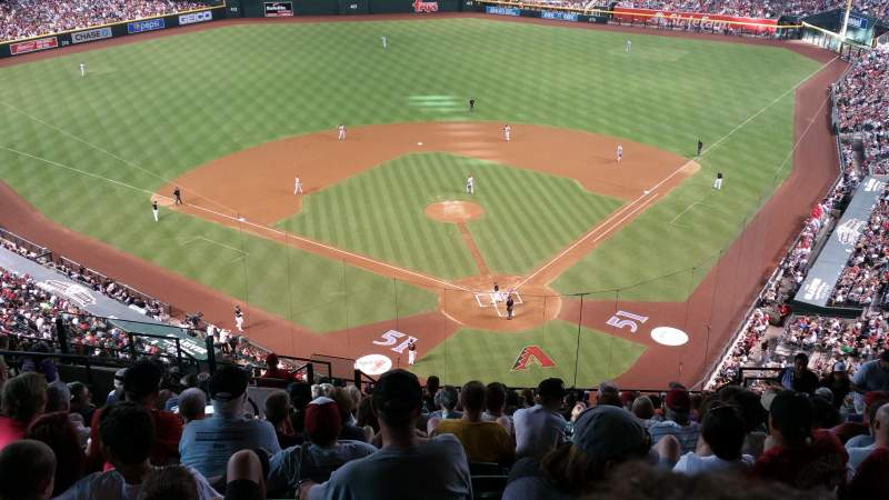Seating view for Chase Field Section 317 Row 18 Seat 14