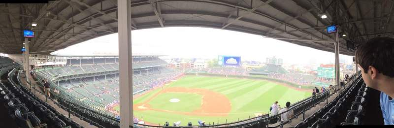 Seating view for Wrigley Field Section 529 Row 4 Seat 1