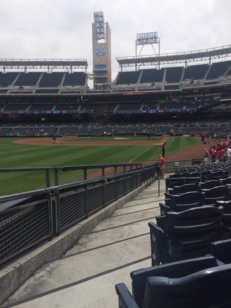 Seating view for PETCO Park Section 124 Row 18 Seat 10