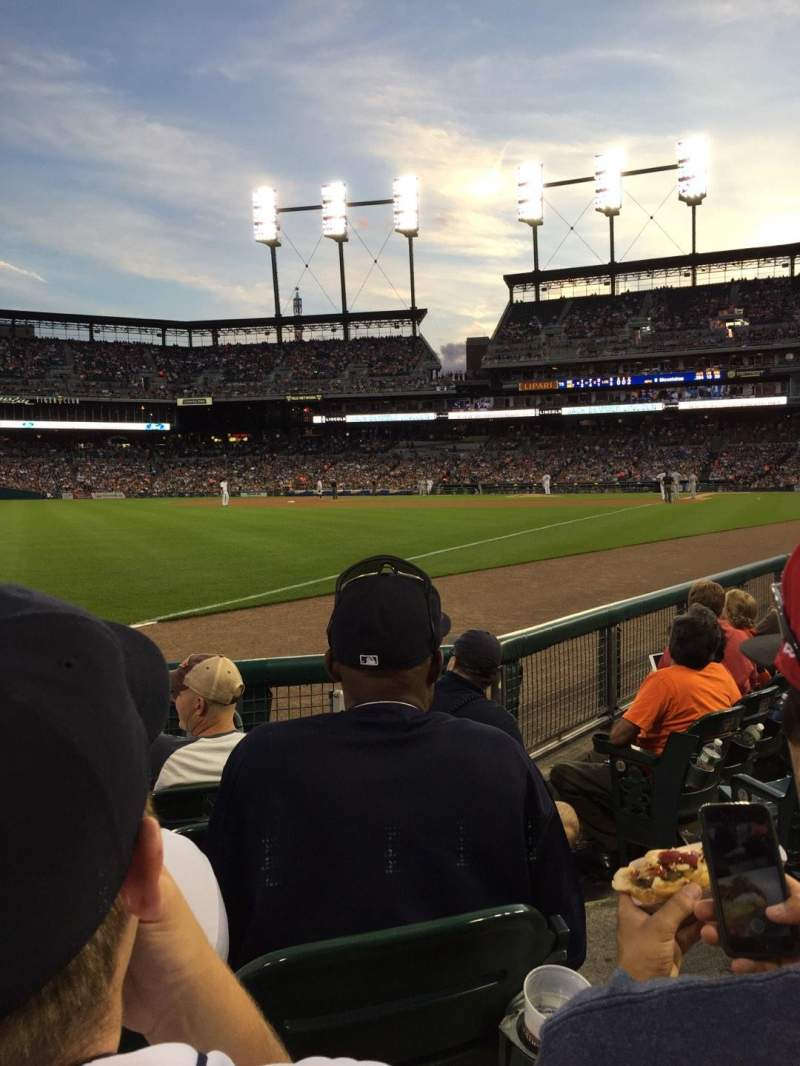 Seating view for Comerica Park Section 142 Row 5 Seat 2