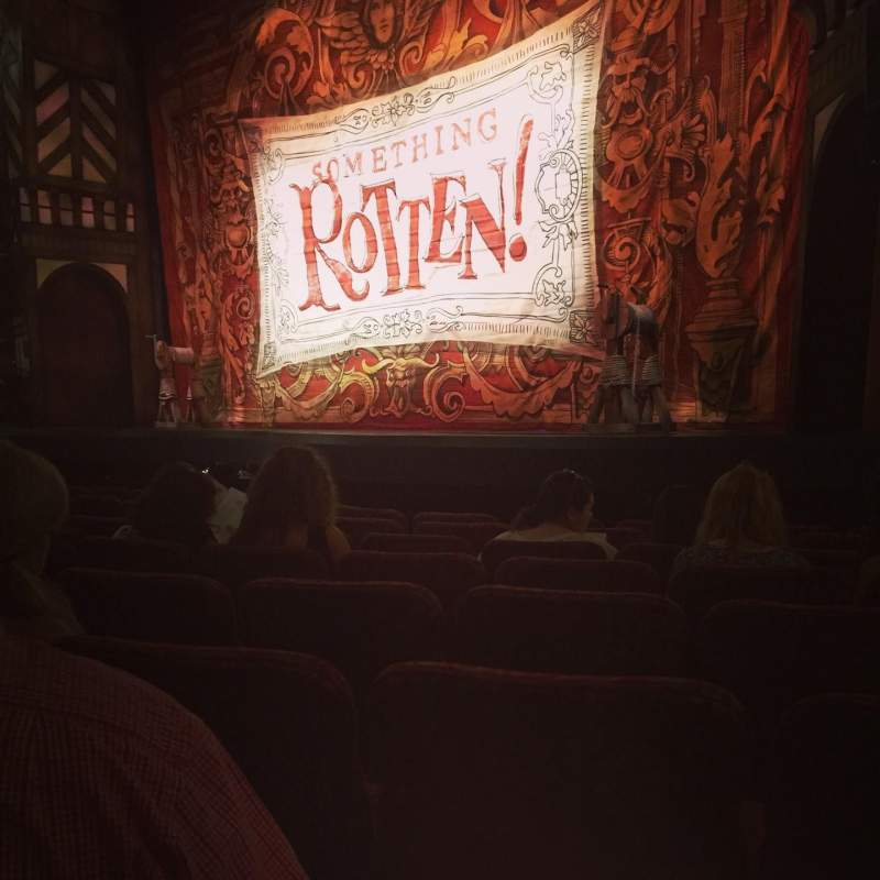 Seating view for St. James theatre Section Orch Row J Seat 20