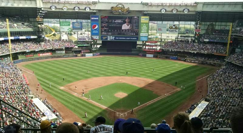 Seating view for Miller Park Section 422 Row 12 Seat 6