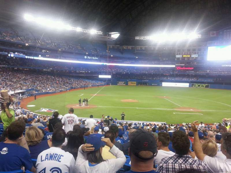 Seating view for Rogers Centre Section 118 Row 37 Seat 5