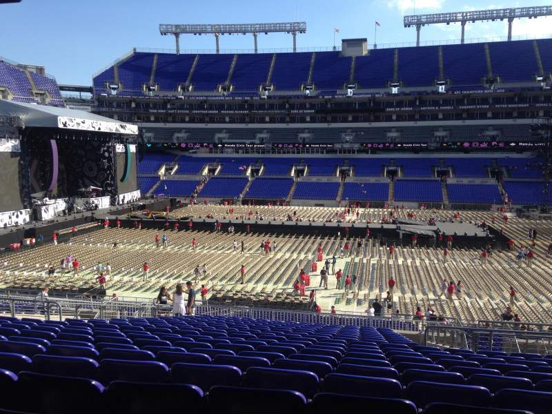 Seating view for M&T Bank Stadium Section 153 Row 40 Seat 7
