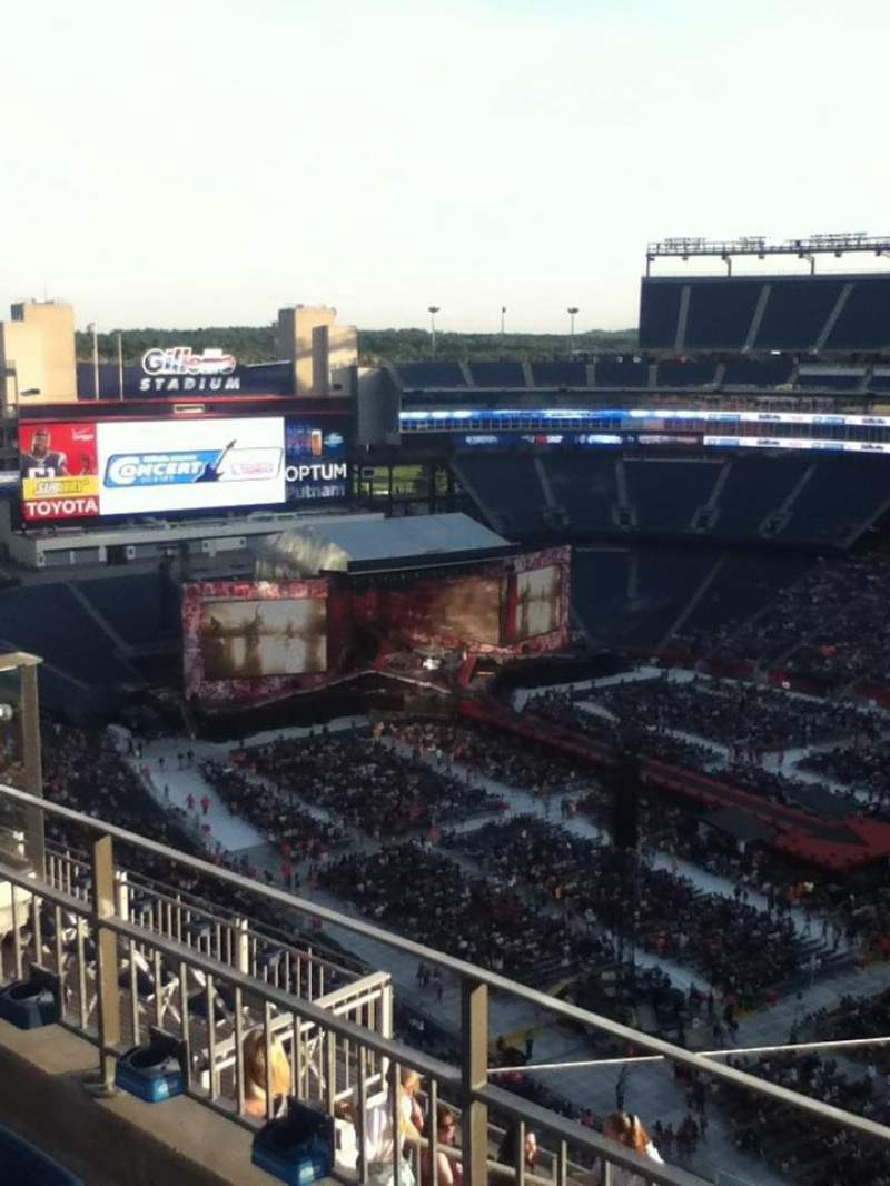 Seating view for Gillette Stadium Section 304 Row 10 Seat 10