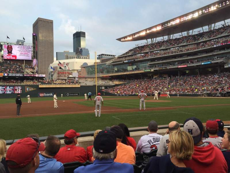 Seating view for Target Field Section 14 Row 5 Seat 8