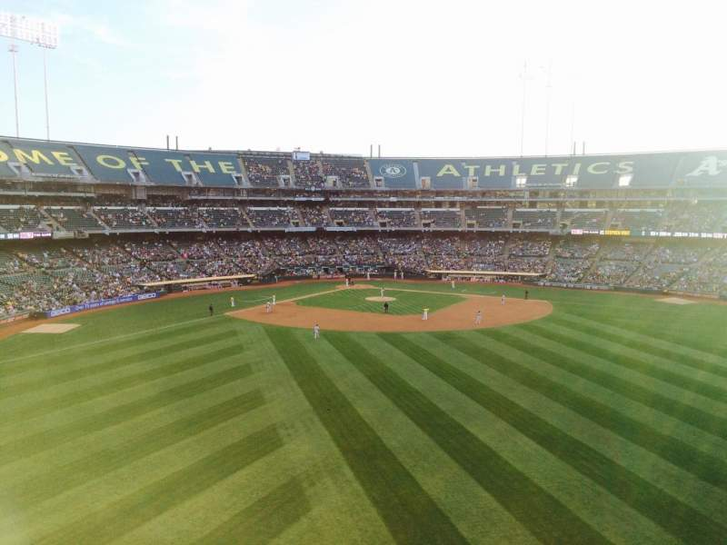 Seating view for Oakland Alameda Coliseum Section 245 Row 1 Seat 15