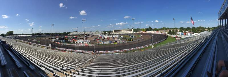 Seating view for Knoxville Raceway Section B Row 29 Seat 28