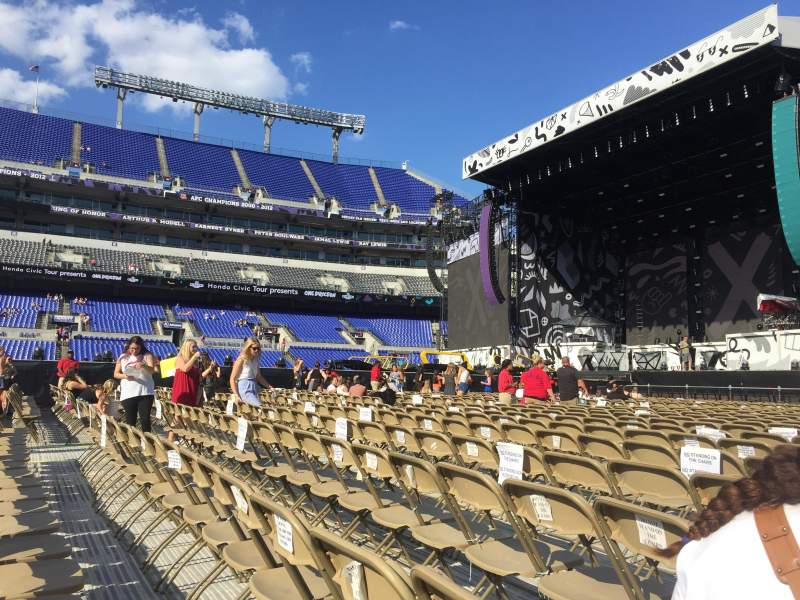 Seating view for M&T Bank Stadium Section A2 Row 25 Seat 4