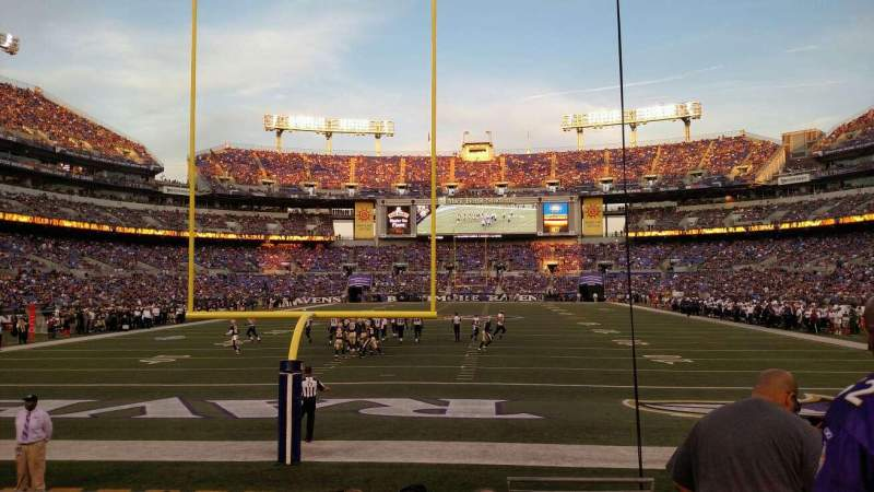 Seating view for M&T Bank Stadium Section 140 Row 8 Seat 1