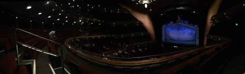 Seating view for Ellie Caulkins Opera House Section Mezzanine R Row B Seat 215
