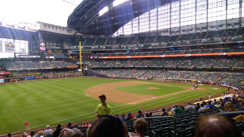 Seating view for Miller Park Section 229 Row 15 Seat 4