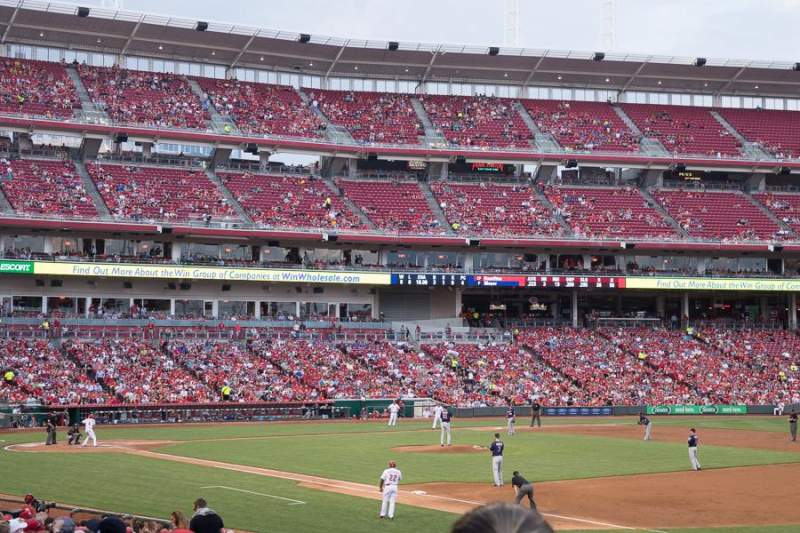 Seating view for Great American Ball Park Section 134 Row AA Seat 7