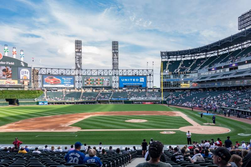 Seating view for Guaranteed Rate Field Section 137 Row 28 Seat 9
