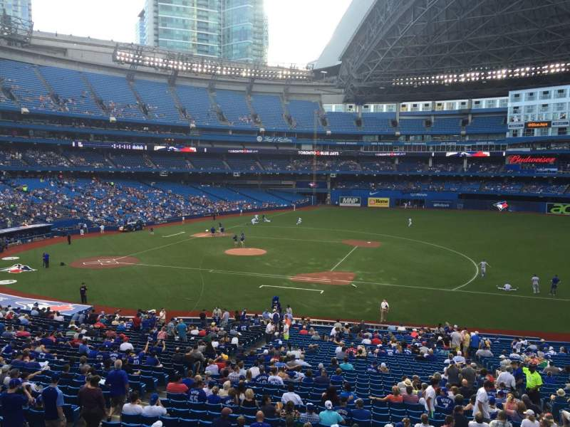 Seating view for Rogers Centre Section 217 Row 1 Seat 101