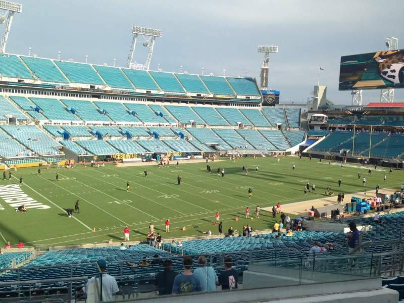 Seating view for EverBank Field Section 219 Row H Seat 10