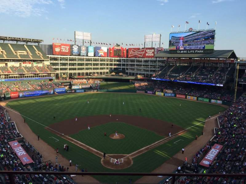 Seating view for Globe Life Park in Arlington Section 326 Row 3 Seat 8