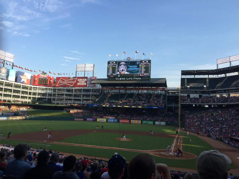 Seating view for Globe Life Park in Arlington Section 22 Row 27 Seat 7