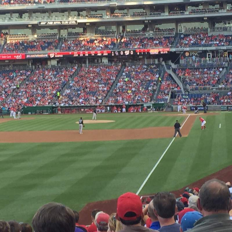 Seating view for Nationals Park Section 107 Row LL Seat 18