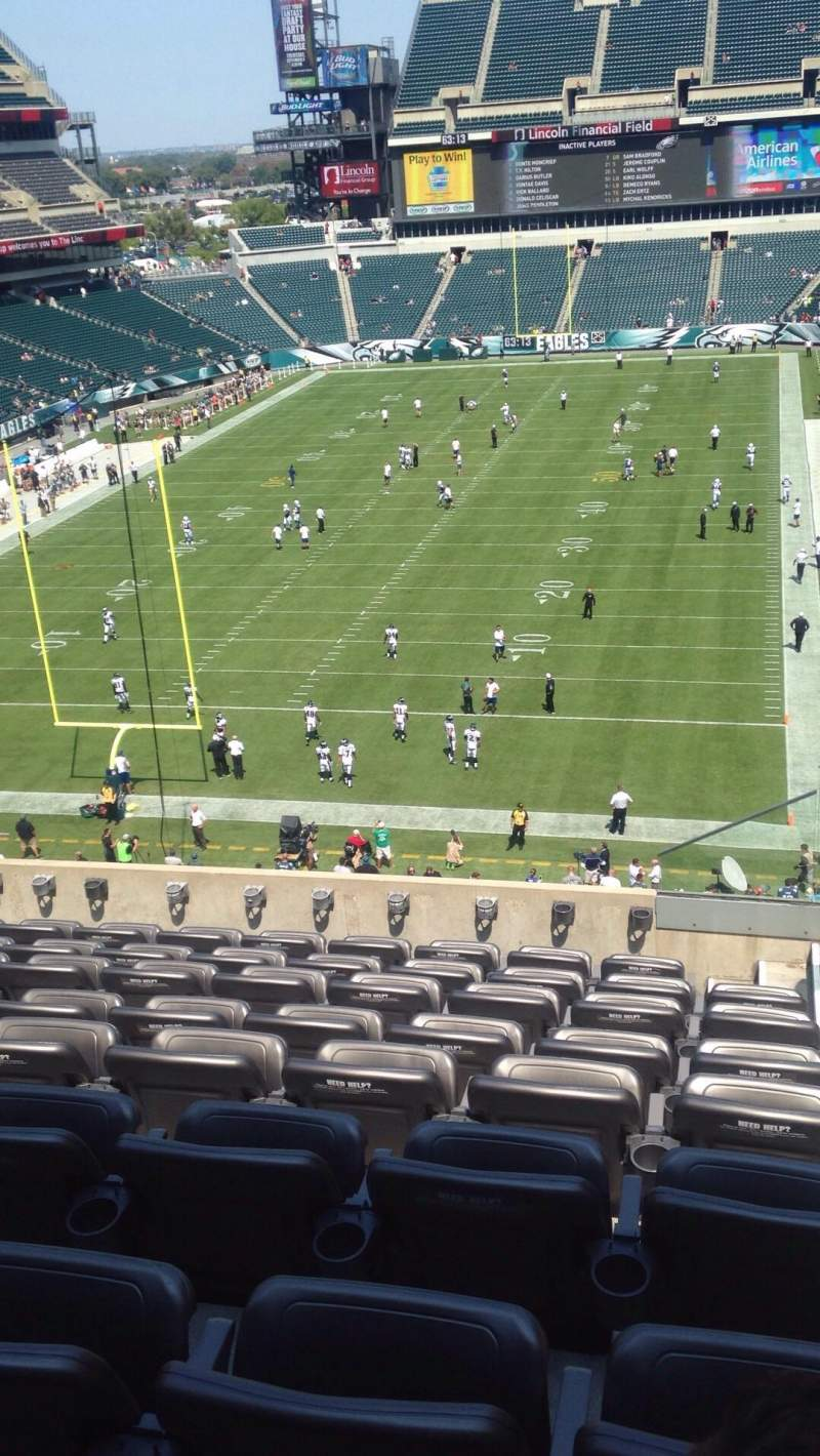 Seating view for Lincoln Financial Field Section M12 Row 14 Seat 1