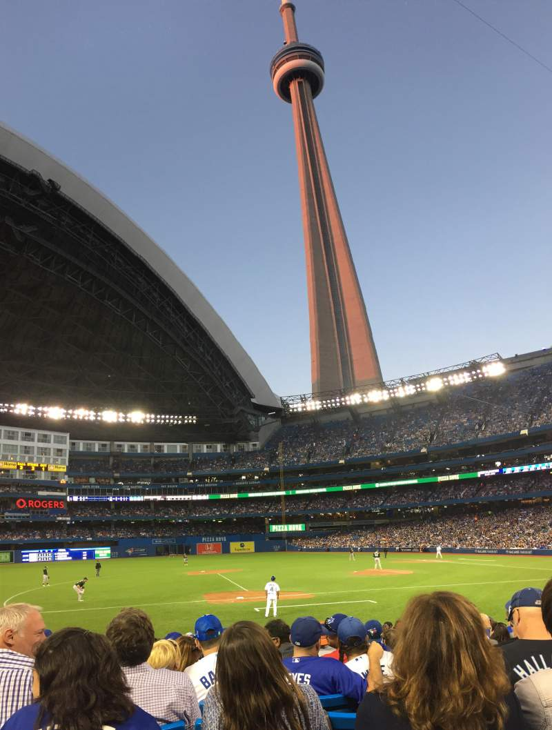 Seating view for Rogers Centre Section 127L Row 15 Seat 105