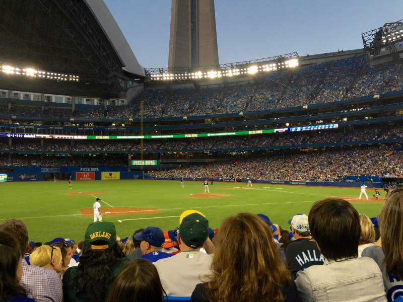 Seating view for Rogers Centre Section 127L Row 15 Seat 106
