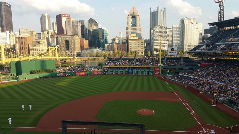 Seating view for PNC Park Section 221 Row C Seat 20