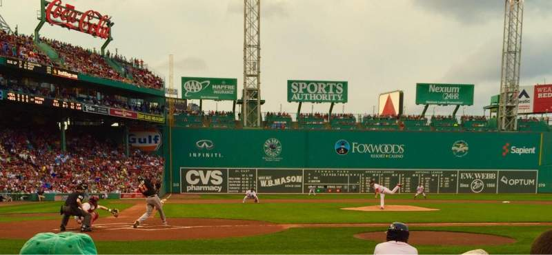 Seating view for Fenway Park Section Field Box 38 Row C Seat 2