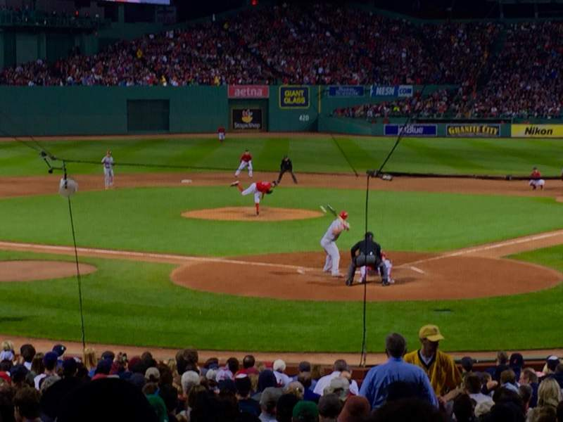 Seating view for Fenway Park Section Loge Box 133 Row KK Seat 1