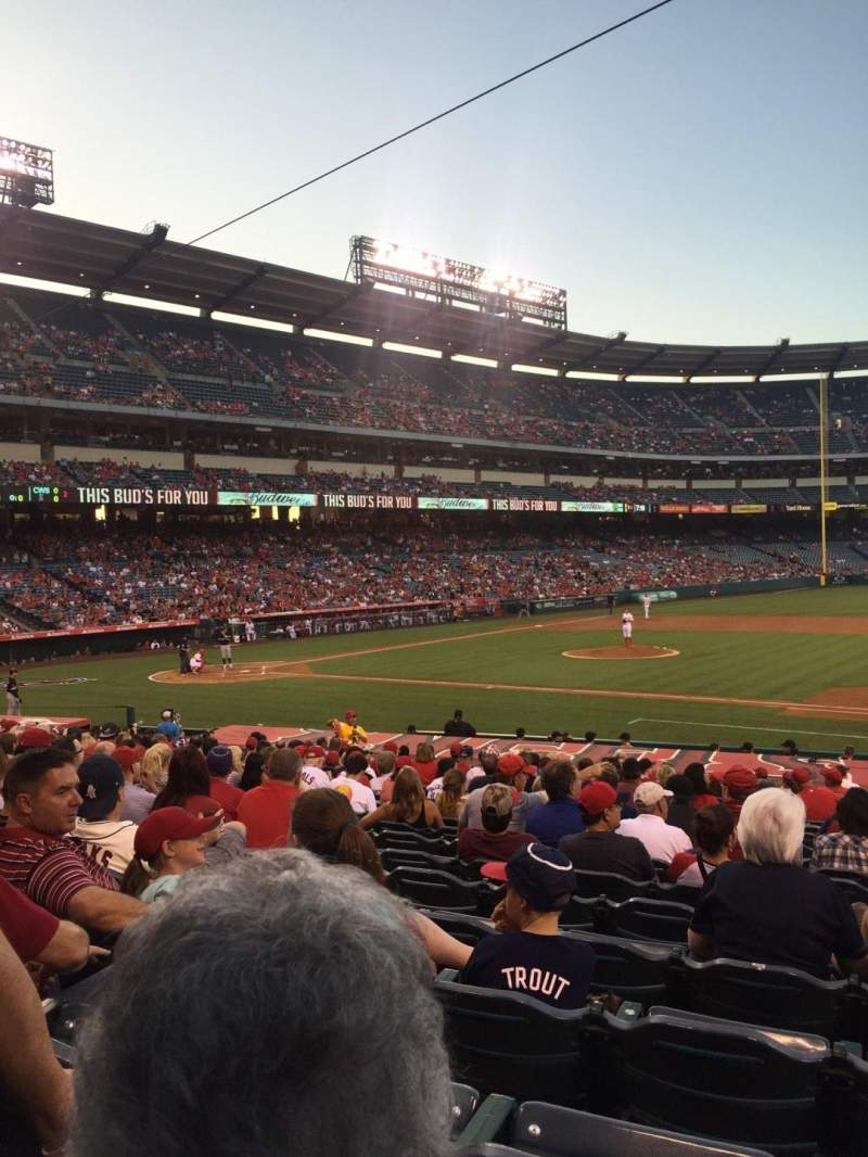 Seating view for Angel Stadium Section F125 Row W Seat 14