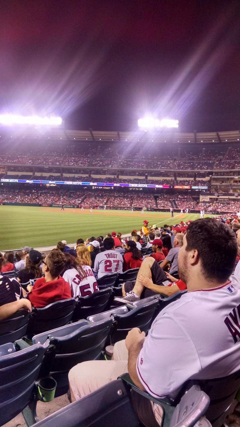 Seating view for Angel Stadium Section F103 Row J Seat 5