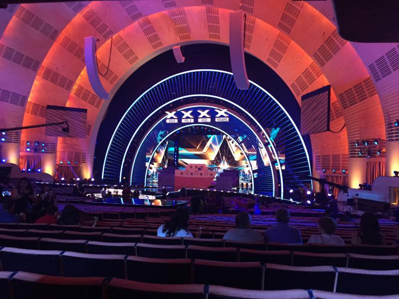 Seating view for Radio City Music Hall Section Orchestra 2 Row Q Seat 202