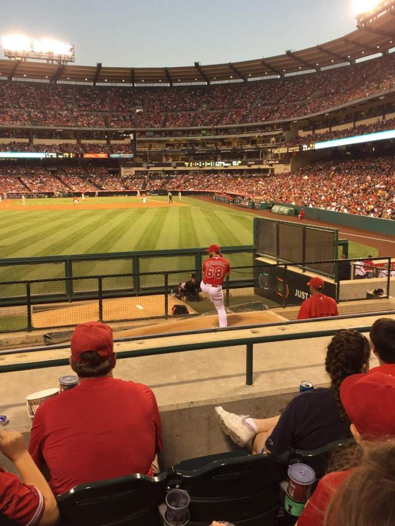Seating view for Angel Stadium Section P258 Row F Seat 6