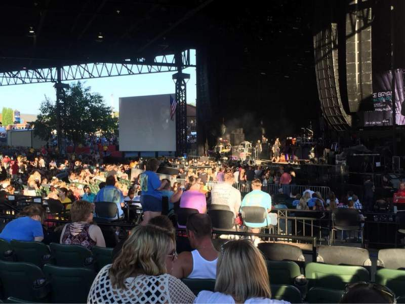Seating view for KeyBank Pavilion Section 4 Row L Seat 5