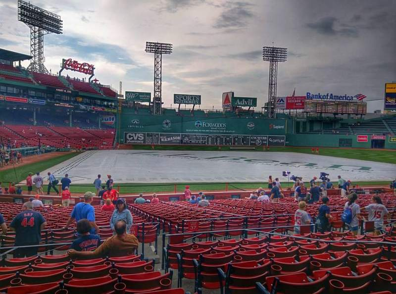 Seating view for Fenway Park Section Loge Box 122 Row HH Seat 1