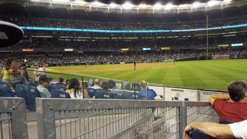 Seating view for Yankee Stadium Section 111 Row 7 Seat 4