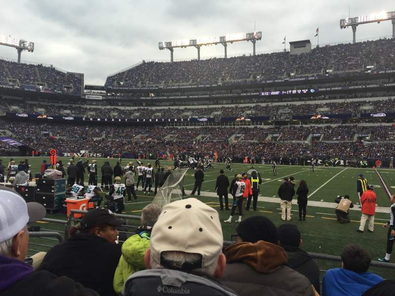 Seating view for M&T Bank Stadium Section 151 Row 4