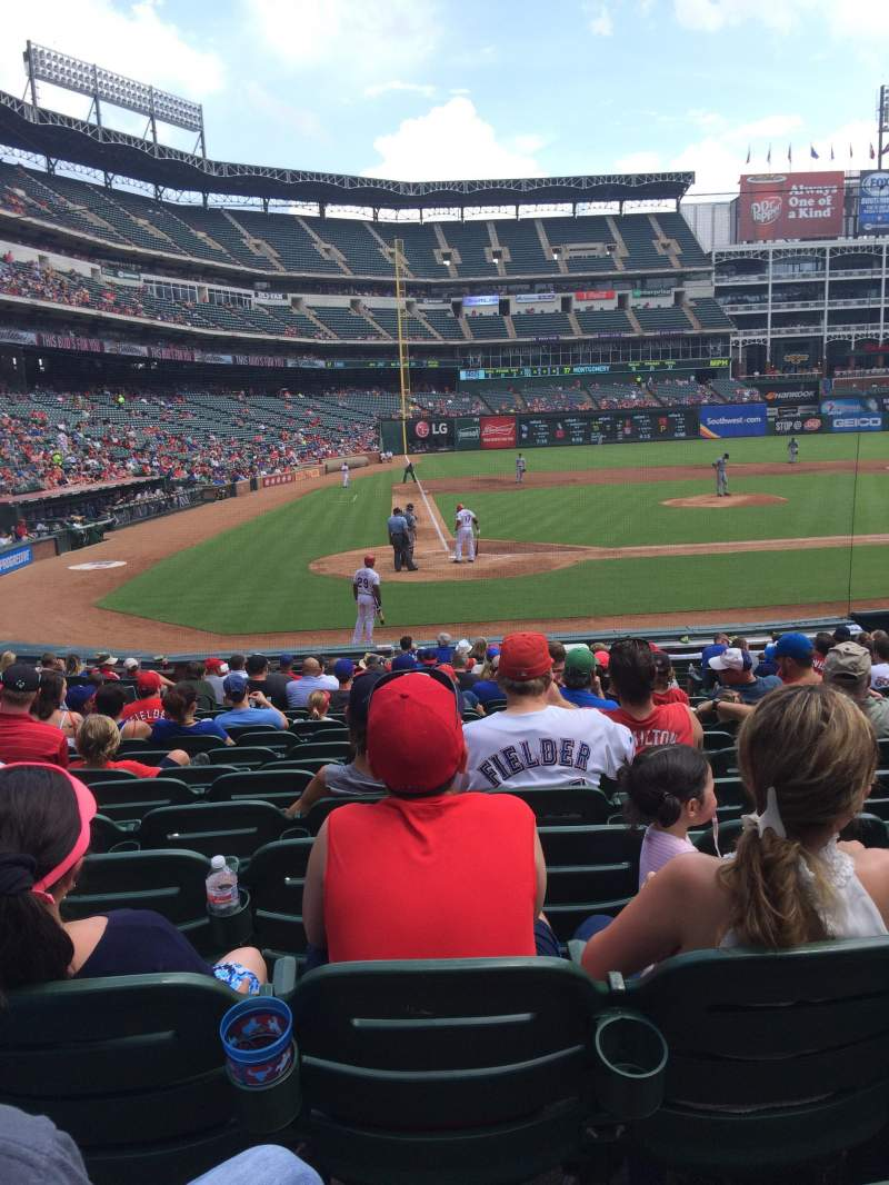 Seating view for Globe Life Park in Arlington Section 30 Row 15 Seat 8
