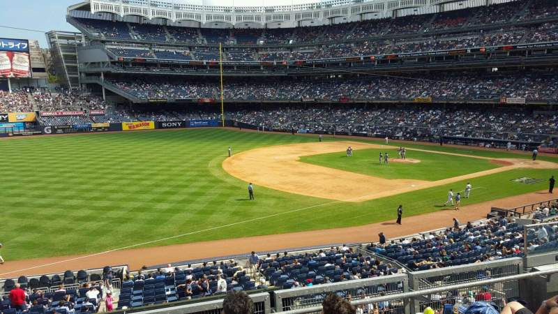 Seating view for Yankee Stadium Section 228 Row 4 Seat 8