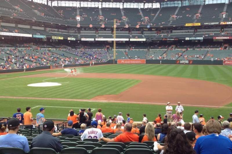 Seating view for Oriole Park at Camden Yards Section 18 Row 24 Seat 6